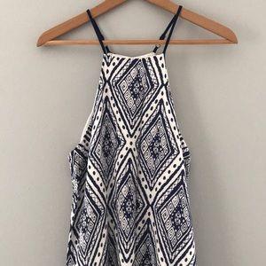 Forever 21 blue geometric diamond maxi dress